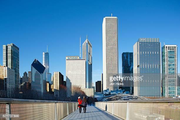 Nichols Bridgeway in Millennium Park, Chicago.