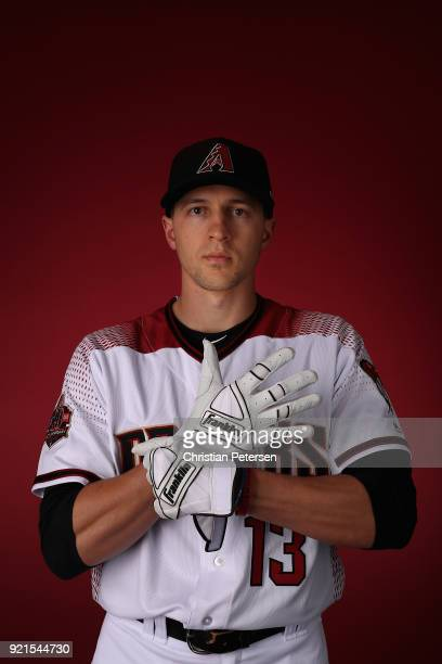Nick Ahmed of the Arizona Diamondbacks poses for a portrait during photo day at Salt River Fields at Talking Stick on February 20 2018 in Scottsdale...