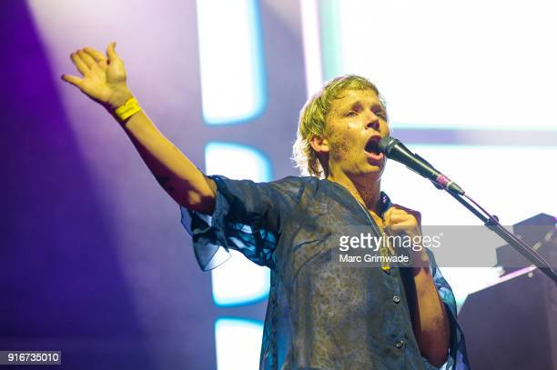 Nick Allbrook from Pond performs at St Jerome's Laneway Festival on February 10, 2018 in Brisbane, Australia.