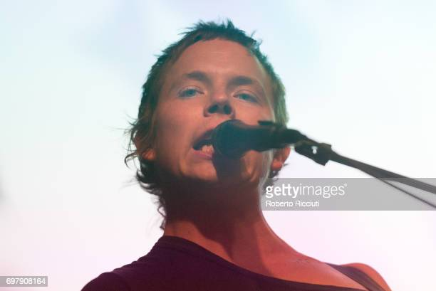 Nick Allbrook of Australian band Pond performs on stage at The Art School on June 19, 2017 in Glasgow, Scotland.