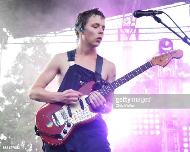 Nick Allbrook of Pond performs at Shaky Knees Music Festival at Centennial Olympic Park on May 14, 2017 in Atlanta, Georgia.