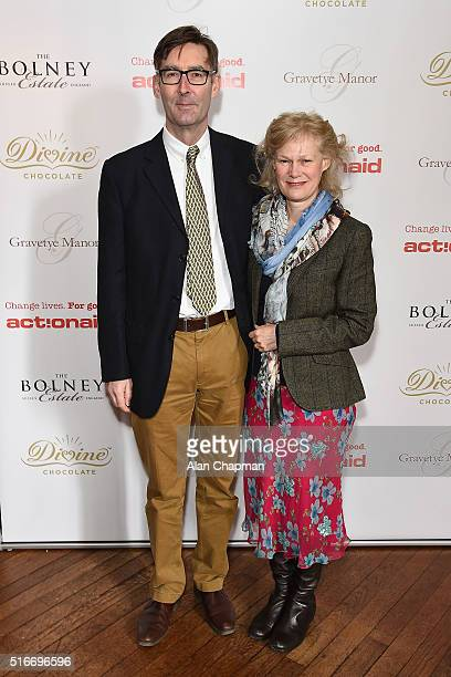 Nick and Cynthia Williams attend ActionAid's Tea and Inspiration charity fundraising event at Gravetye Manor on March 20 2016 in East Grinstead...