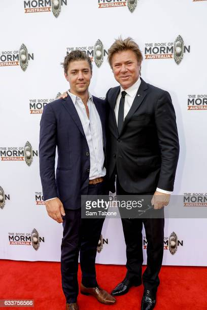 Nick and Richard Wilkins arrive ahead of The Book of Mormon opening night at Princess Theatre on February 4 2017 in Melbourne Australia