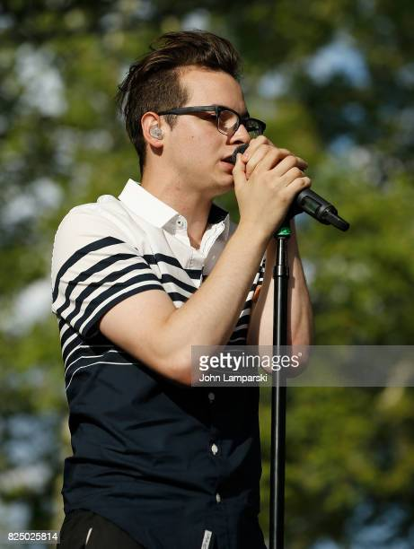 Nick Anderson of The Wrecks in concert New York New York at Central Park SummerStage on July 31 2017 in New York City