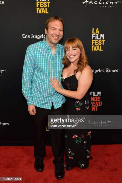 Nick Andert and Mary Priest attend the 2018 LA Film Festival screening of Behind The Curve at ArcLight Hollywood on September 22 2018 in Hollywood...