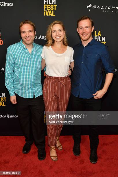 Nick Andert Caroline Clark and Daniel J Clark attends the 2018 LA Film Festival screening of Behind The Curve at ArcLight Hollywood on September 22...