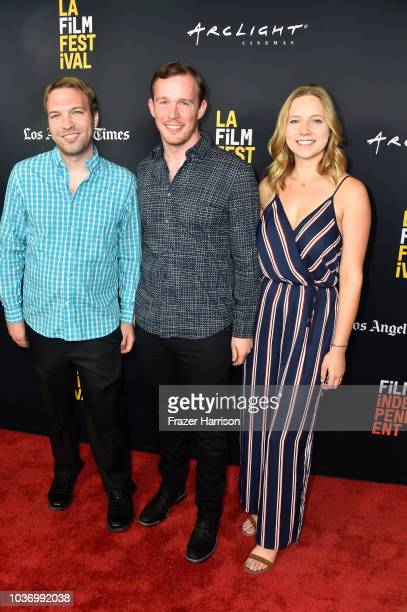 Nick Andert Daniel J Clark Caroline Clark 2018 LA Film Festival Opening Night Premiere Of 'Echo In The Canyon' at John Anson Ford Amphitheatre on...