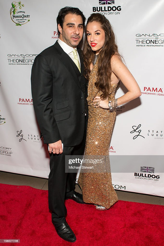 Nick Andreottola (L) and Nicole Rose Stillings attend Celebrate Your Status 2012 by the Happy Hearts Fund at Gansevoort Park Hotel on December 17, 2012 in New York City.