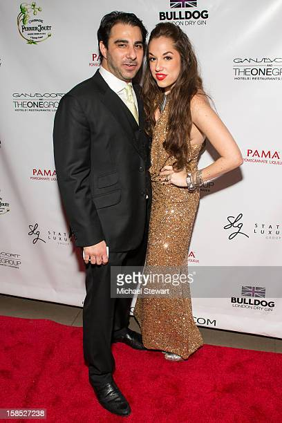 Nick Andreottola and Nicole Rose Stillings attend Celebrate Your Status 2012 by the Happy Hearts Fund at Gansevoort Park Hotel on December 17 2012 in...