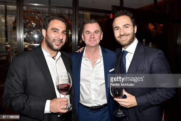 Nick Andreottola Brian Phillips and Philippe Vasilescu attend Christopher R King Debuts New Luxury Brand CCCXXXIII at Baccarat Hotel on June 5 2018...