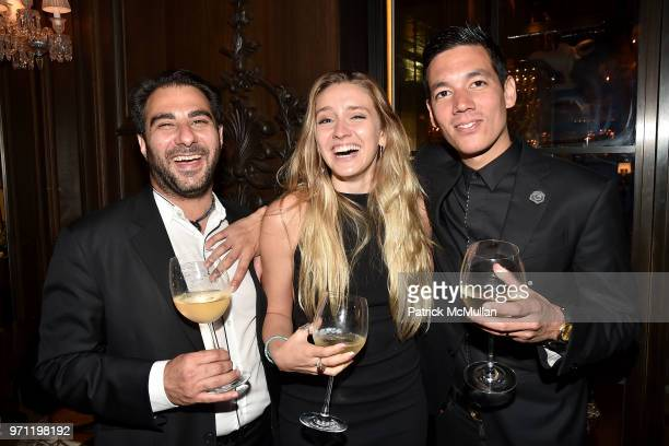 Nick Andreottola Liv Dunkley and Matthieu Yamoum attend Christopher R King Debuts New Luxury Brand CCCXXXIII at Baccarat Hotel on June 5 2018 in New...