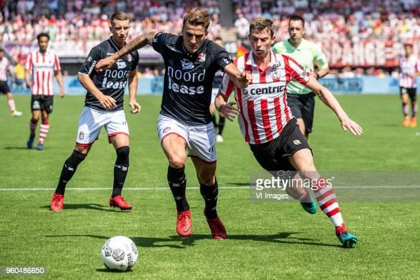Nick Bakker of FC Emmen Robert Muhren of Sparta Rotterdam during the Dutch Jupiler League playoffs final match between Sparta Rotterdam and FC Emmen...