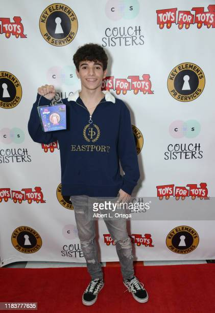 Nick Bencivengo attends The Couch Sisters 1st Annual Toys For Tots Toy Drive held onNovember 20 2019 in Glendale California