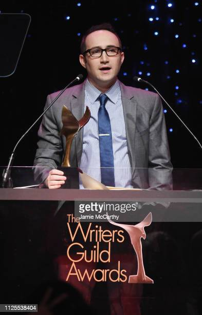 Nick Bernardone speaks onstage during the 71st Annual Writers Guild Awards New York ceremony at Edison Ballroom on February 17 2019 in New York City