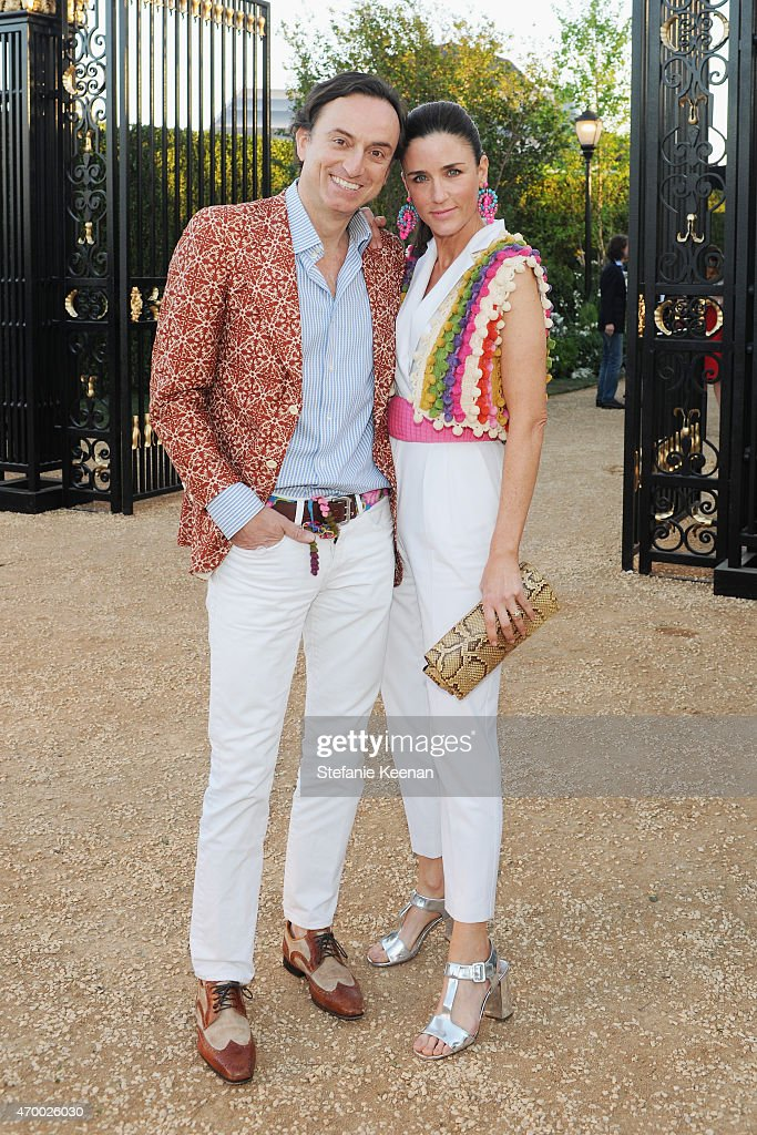 Nick Bini (L) and Kimberly Bini attend the Burberry 'London in Los Angeles' event at Griffith Observatory on April 16, 2015 in Los Angeles, California.