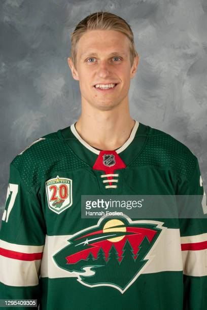 Nick Bjugstad of the Minnesota Wild poses for his official headshot for the 2020-2021 season on January 3, 2021 at the Tria Practice Rink in St....