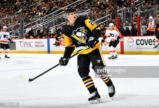 Nick Bjugstad of the Pittsburgh Penguins skates against the Philadelphia Flyers at PPG PAINTS Arena on October 29, 2019 in Pittsburgh, Pennsylvania.