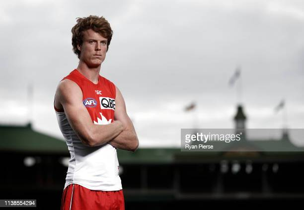 Nick Blakey of the Sydney Swans poses during a portrait session at Sydney Cricket Ground on March 27, 2019 in Sydney, Australia.