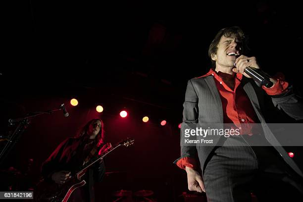 Nick Bockrath and Matthew Shultz of Cage the Elephant performs at Academy on January 16 2017 in Dublin Ireland