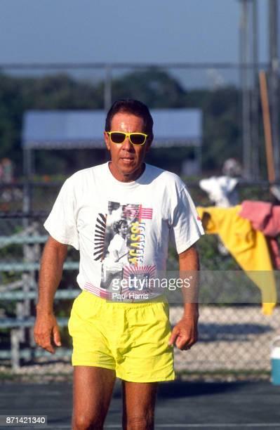 Nick Bollettieri at the Bollettieri Tennis Academy January 15 1990 in Bradenton Florida