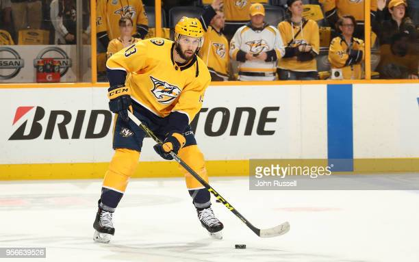 Nick Bonino of the Nashville Predators skates against the Winnipeg Jets in Game Five of the Western Conference Second Round during the 2018 NHL...