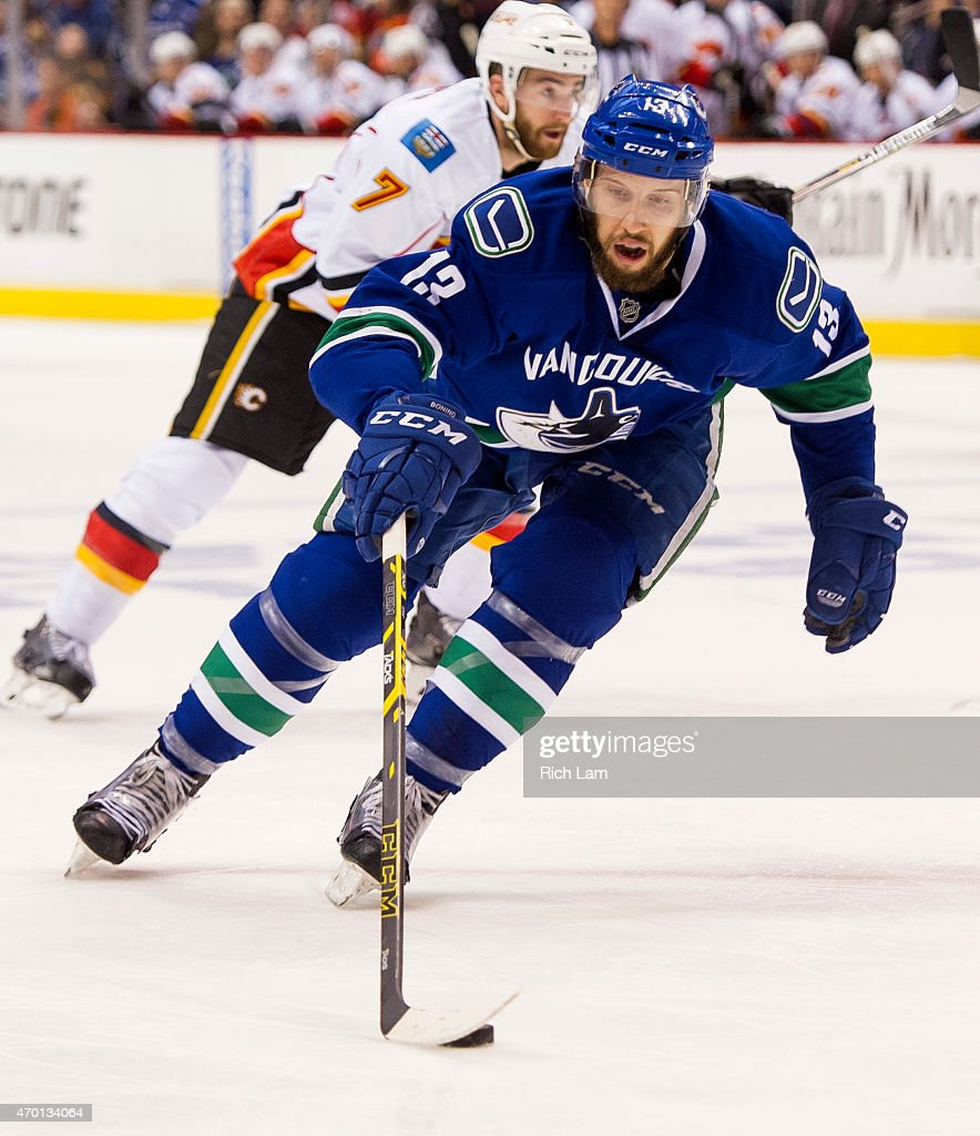Calgary Flames v Vancouver Canucks - Game One : News Photo