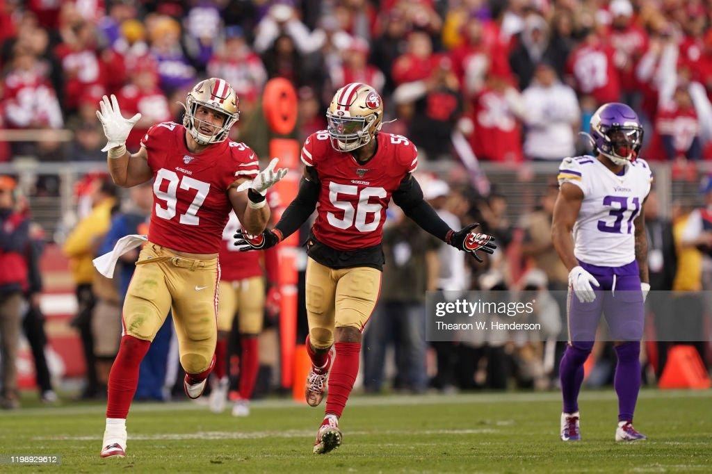 Divisional Round - Minnesota Vikings v San Francisco 49ers : News Photo