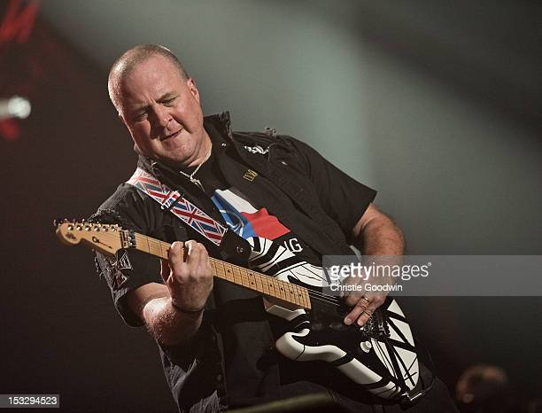 Nick Bowcott Director of Marketing Artist Relations for Marshall USA and former Grim Reaper guitarist performs on stage during the Marshall 50 Years...
