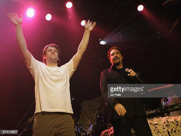 Nick Bracegirdle known as Chicane mastermind performs on stage with Tom Jones for a oneoff London gig at the Carling Academy Islington on April 24...