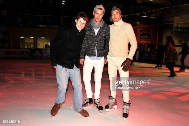Nick Bush Matthew Gontier and Luke Gulbranson attend VMAN and FORD Models Celebrate With Ice Skating and Cocktails For The New VMAN Issue at Pier 61...