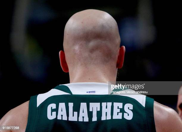 Nick Calathes #33 of Panathinaikos Superfoods Athens react during the 2017/2018 Turkish Airlines EuroLeague Regular Season Round 22 game between...