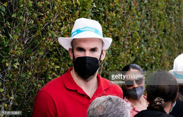 Nick Calathes attends to the ATP Barcelona Open Banc Sabadell 2021 at Real Club De Tenis Barcelona on April 25, 2021 in Barcelona, Spain.
