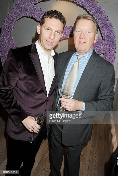 Nick Candy and Frank Warren attend a party celebrating the launch of luxury interior designer Candy Candy's new book 'Candy Candy The Art Of Design'...
