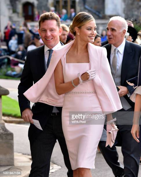 Nick Candy and Holly Candy arrive ahead of the wedding of Princess Eugenie of York to Jack Brooksbank at Windsor Castle on October 12 2018 in Windsor...