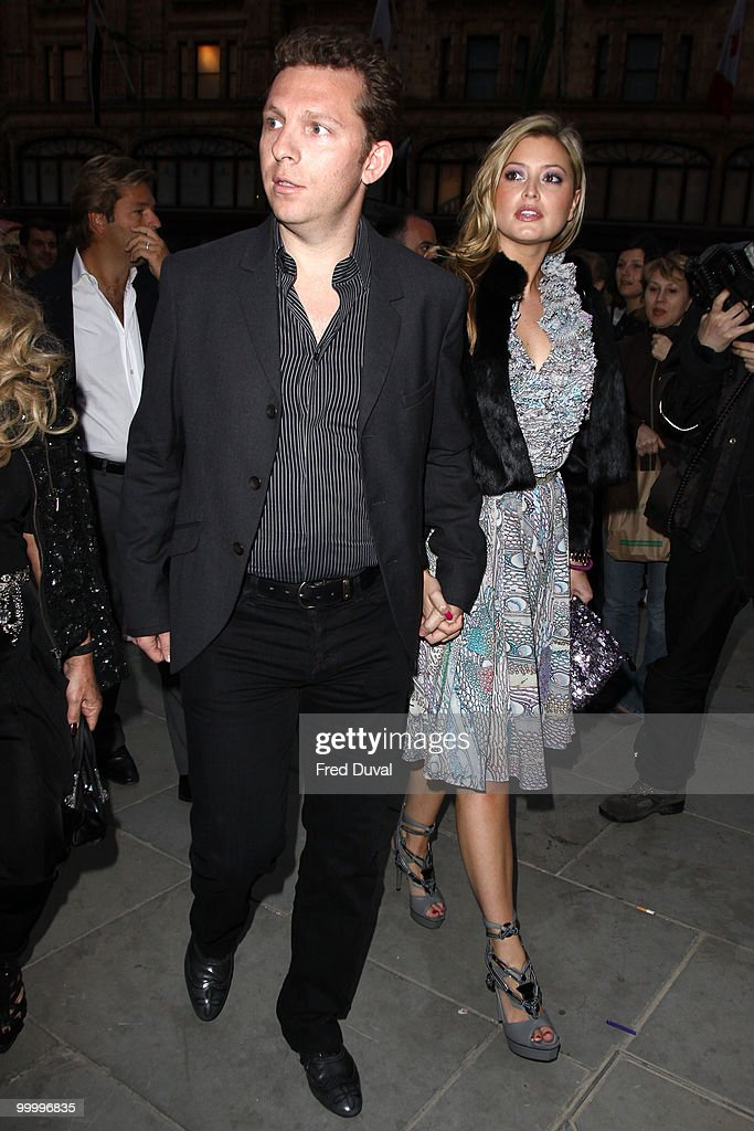 Nick Candy (L) and Holly Valance attends the launch party for the opening of TopShop's Knightsbridge store on May 19, 2010 in London, England.
