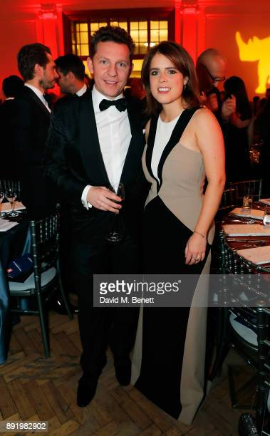 Nick Candy and Princess Eugenie attend The Charge II boxing fundraiser at The Lindley Hall on December 13 2017 in London England