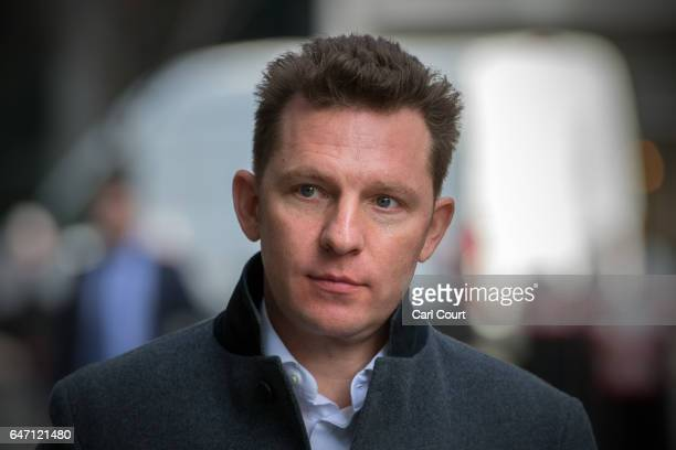 Nick Candy arrives at the High Court on March 2 2017 in London England Christian Candy and his brother Nick are being sued by businessman Mark...