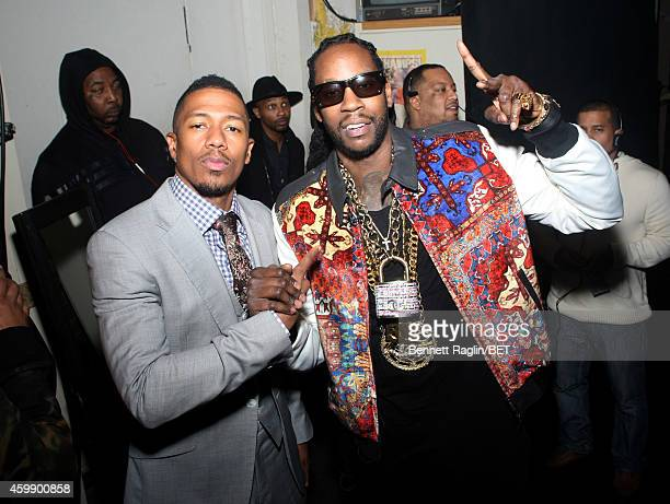 Nick Cannon and 2 Chainz attend 106 Park LIVE on December 3 2014 in New York City