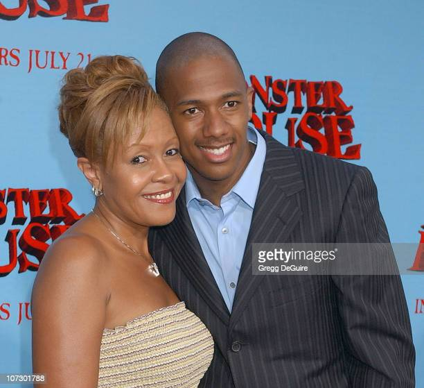 Nick Cannon and Beth Hackett during Monster House Los Angeles Premiere Arrivals at Mann Village Theatre in Westwood California United States