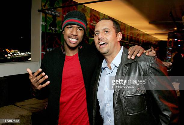 Nick Cannon and Bob Teitel producer during FoxSearchlight Pictures Present the Los Angeles Premiere of Roll Bounce After Party at The Bridge at...