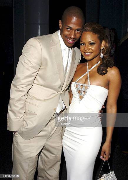 Nick Cannon and Christina Milian during Be Cool Los Angeles Premiere After Party at The Pallidium in Los Angeles California United States
