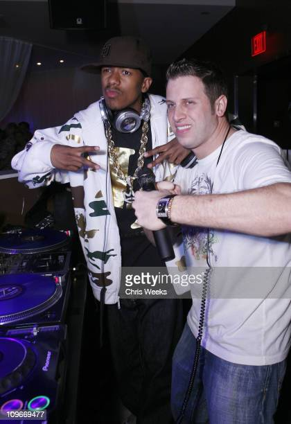 Nick Cannon and DJ Hollywood during MySpacecom and Nick Cannon Host Friday Night at PURE Nightclub in Las Vegas March 31 2007 at Pure Nightclub in...