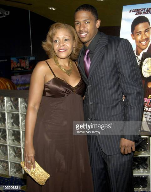 Nick Cannon and his mother Beth during The Underclassman New York Premiere Inside Arrivals at Clearview Chelsea West Theater in New York City New...