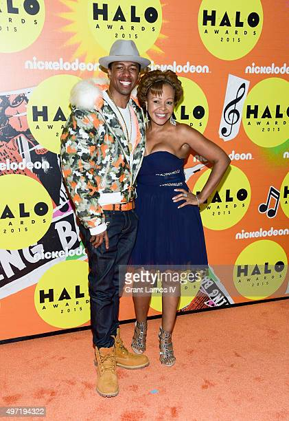 Nick Cannon and his mother Beth Gardner attend the 2015 Halo Awards at Pier 36 on November 14 2015 in New York City