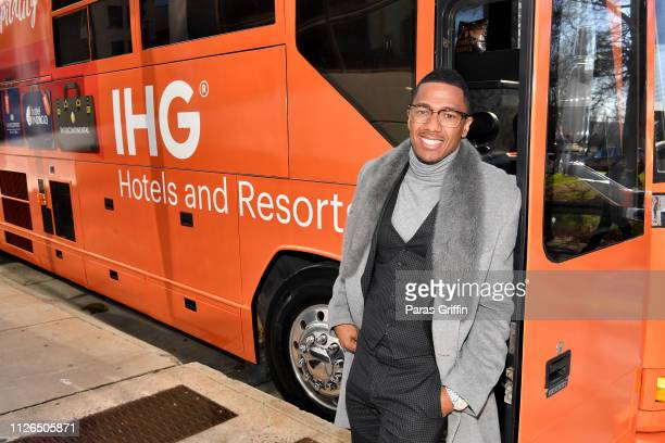 Nick Cannon and IHG Hotels Resorts welcome fans with Home Team Hospitality at Crowne Plaza Midtown Hotel on January 31 2019 in Atlanta Georgia