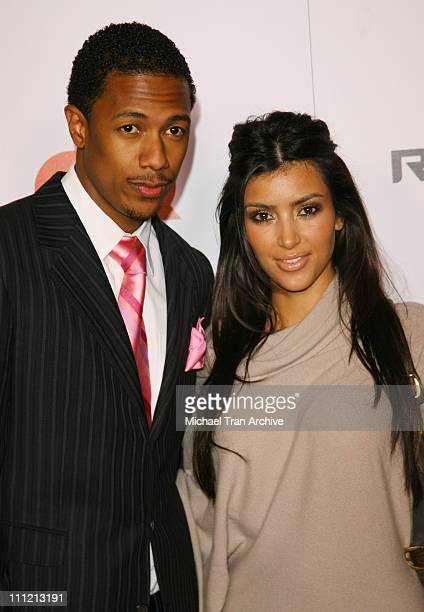 Nick Cannon and Kim Kardashian during JayZ Celebrates 'Kingdom Come' Album Release Party Arrivals at Area in West Hollywood California United States