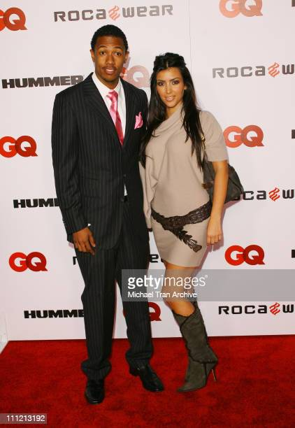 Nick Cannon and Kim Kardashian during JayZ Celebrates Kingdom Come Album Release Party Arrivals at Area in West Hollywood California United States