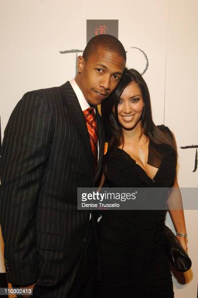 Nick Cannon and Kim Kardashian during Tao's OneYear Anniversary at The Venetian Hotel and Casino Resort at Tao Nightclub at The Venetian Hotel and...