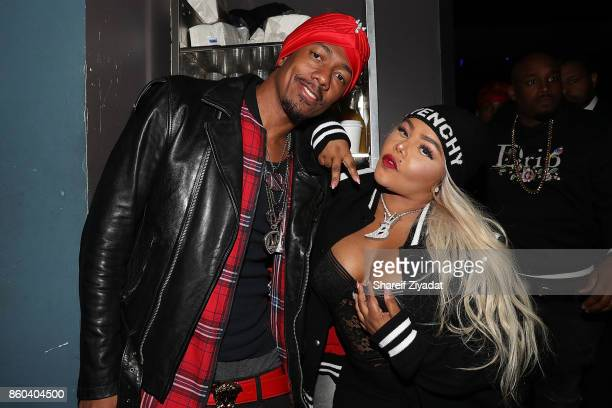 Nick Cannon and Lil KIm attend Blitz Music Showcase at Stage 48 on October 11 2017 in New York City