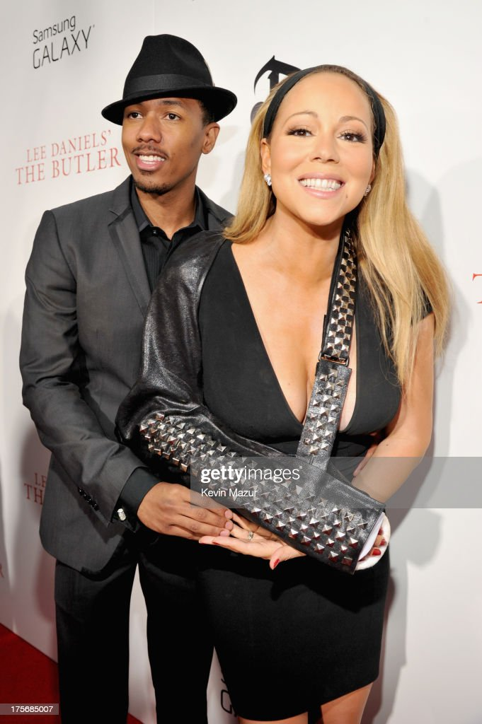 Nick Cannon (L) and Mariah Carey attend Lee Daniels' 'The Butler' New York premiere, hosted by TWC, DeLeon Tequila and Samsung Galaxy on August 5, 2013 in New York City.